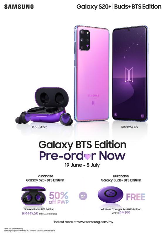 Samsung Galaxy S20+ Galaxy Buds+ BTS Edition