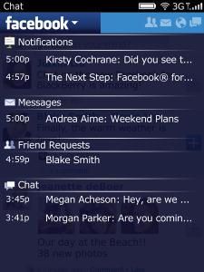Facebook for BlackBerry