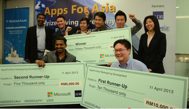 Microsoft-ADB AppsForAsia Winners