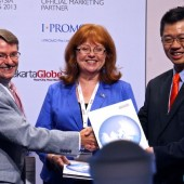 Michael F Corbett, IAOP Chairman, Debi Hamill, IAOP CEO, David Wong, OM Chairman  2013 Asia-Pacific Outsourcing Summit @ Iskandar, Johor.