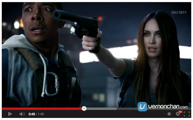"[Video] Official Call of Duty: Ghosts Live-Action Trailer ""Epic Night Out"" Featuring Megan Fox"
