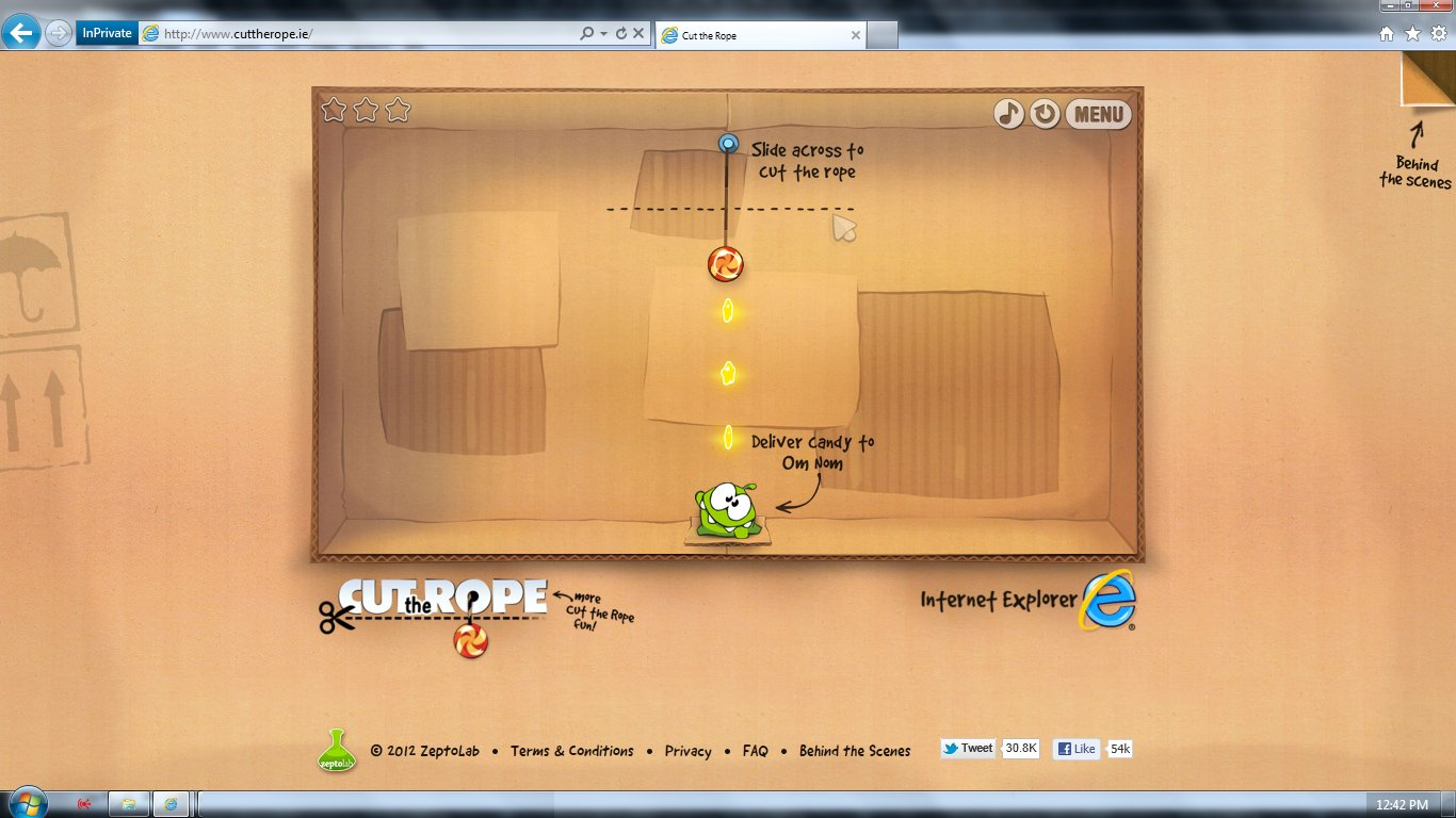 Cut The Rope for Internet Explorer