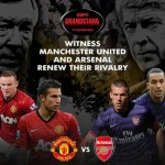 Catch the Titanic Clash Between Arsenal and Manchester United at ESPN Grandstand This Saturday