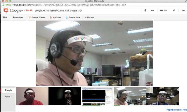 Video] Google I/O Talk on Google+ Hangout with LowYat NET