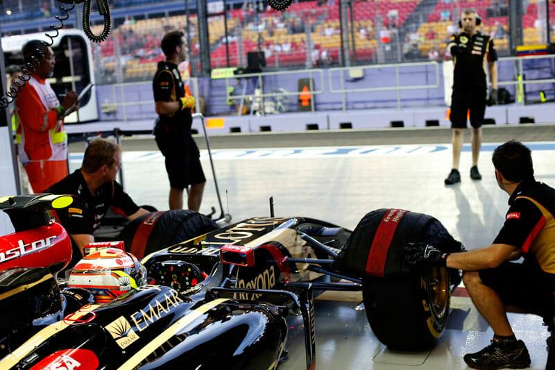 Lotus F1 Team with Pastor Maldonaldo
