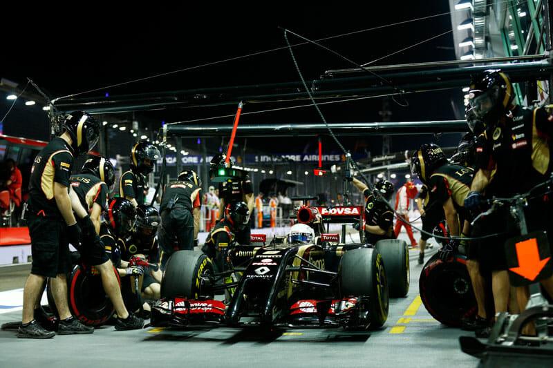 Lotus F1 Team with Romain Grosjean