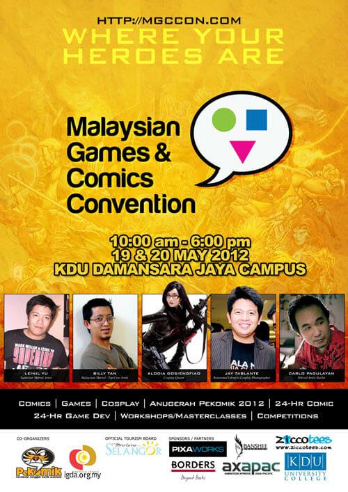 Inaugural Malaysian Games & Comics Convention MGCC 2012