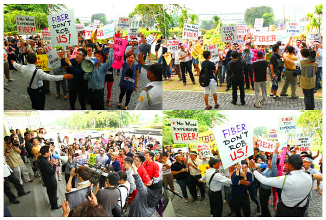 Demonstration outside of P1 HQ