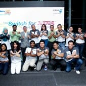Switch for XTRA stars and  fans together with PDB's Management team, Aminul Rashid MDCEO (3rd left) and Akbar SGM Retail.