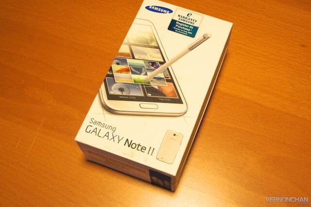Samsung GALAXY Note II unboxed.