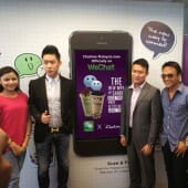Lisa Surihani, the brand ambassador of WeChat Malaysia, Bryan Loo, Managing Director of Chatime Malaysia, Louis Song, Country Manager of Singapore and Malaysia for International Business Group at Tencent.