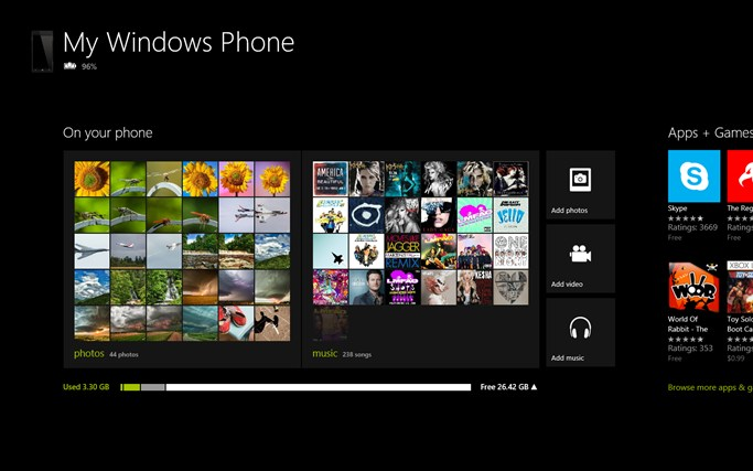 Windows 8 Companion App