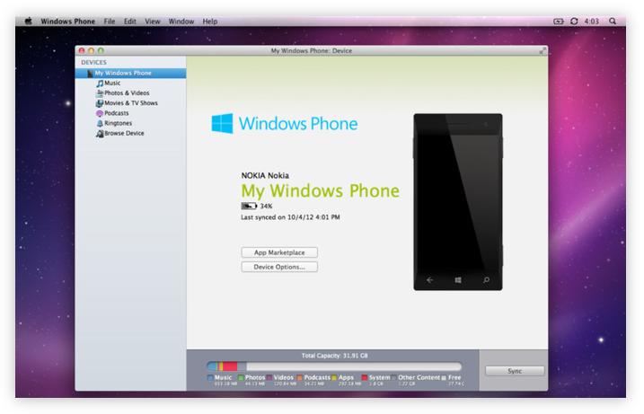 Windows Phone companion app for Mac