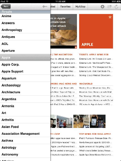 Alltop for iPad