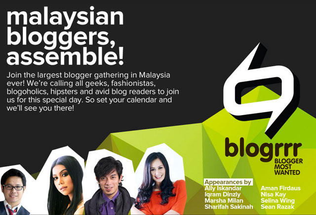 #blogrrr: Malaysia's Largest Blogger Gathering Happening on 14 December