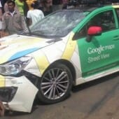 Google Street View Car Crashes Into Buses, and More