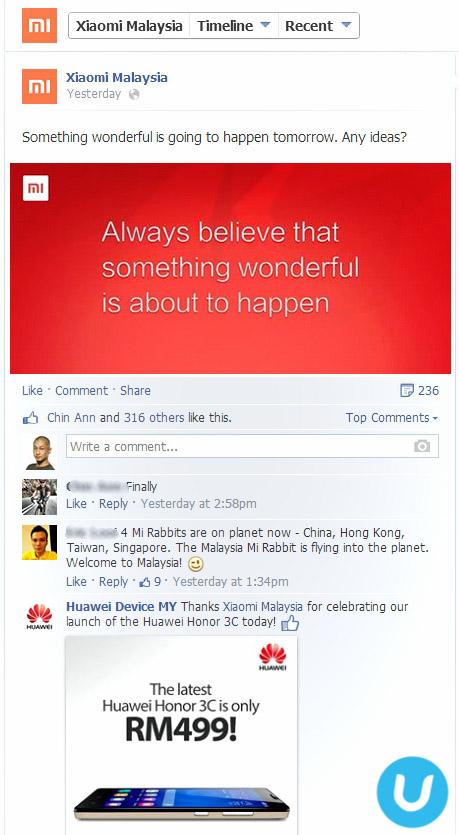 Huawei trolls Xiaomi