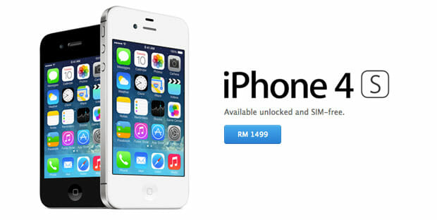 Apple Online Store Malaysia No Longer Lists iPhone 5. iPhone 4s Goes for RM1,499 Unlocked