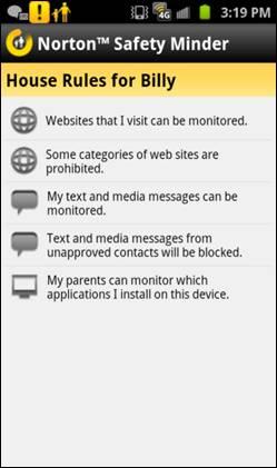Norton mobile app