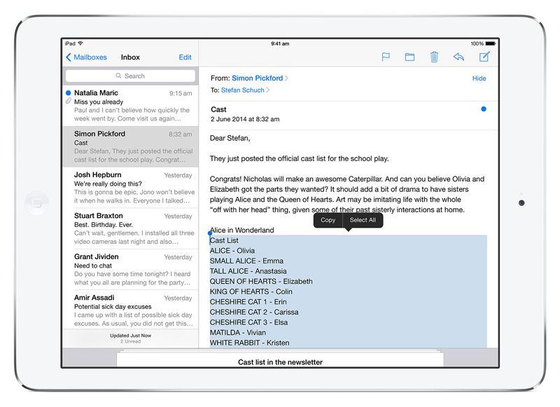 iOS 8 on iPad