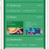 New Evernote for iOS 7. Beautiful.