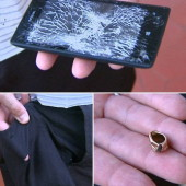 Nokia Lumia 520 stops bullet, saves policeman from injury