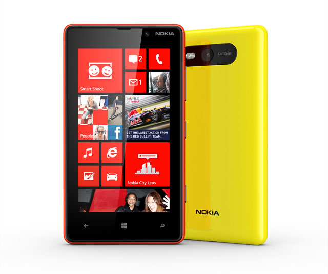 Nokia Lumia 820 Yellow and Red