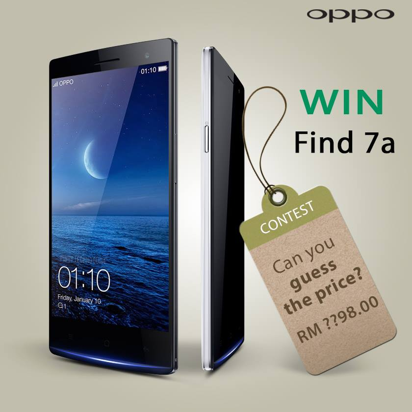 Oppo Find 7 in Malaysia: Can you guess the price?