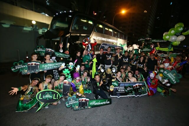 The Launch of Malaysia's Biggest St Patrick's Pubcrawl and the Guinness St Patrick's Fun bus revealed to members of the media.