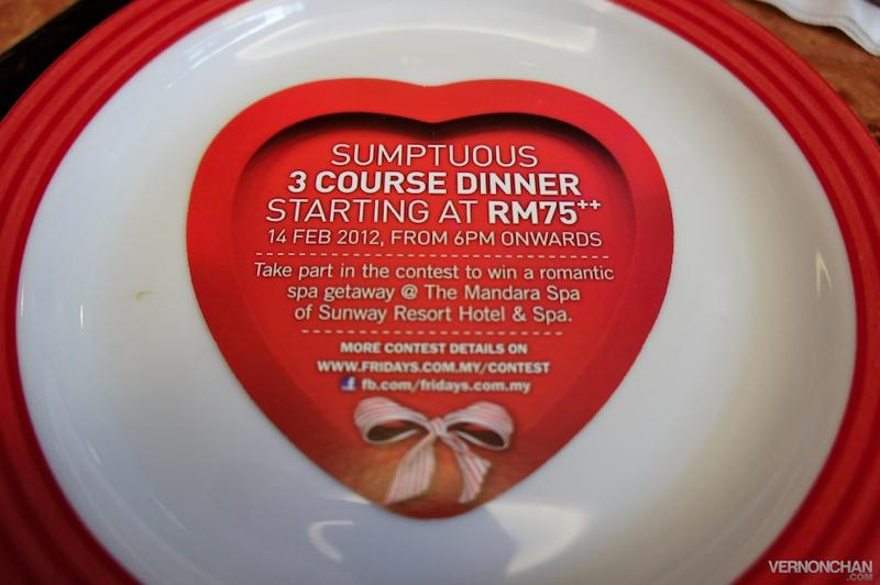 TGIF Valentine's Day Set Menu