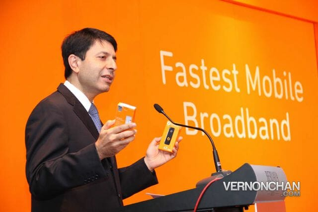 Dr. Kaizad Heerjee, CEO of U Mobile sharing details on the fastest mobile broadband in town.